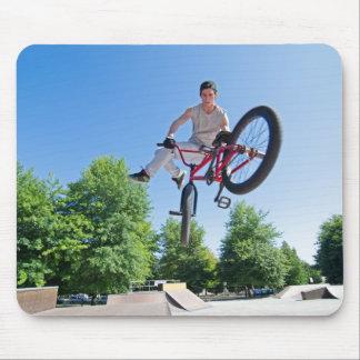 BMX Bike Stunt tail whip Mouse Pad