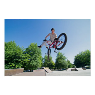 BMX Bike Stunt tail whip Print