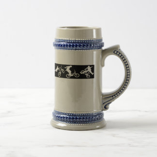 BMX Bike Trick Riding Beer Stein