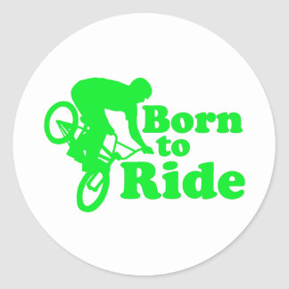 BMX Born To Ride Classic Round Sticker