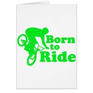 BMX Born To Ride Greeting Card