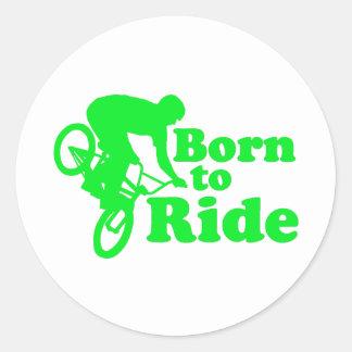 BMX Born To Ride Round Stickers