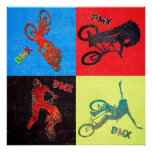 BMX colour explosion, Copyright Karen J Williams Posters
