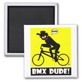 BMX DUDE-18 SQUARE MAGNET