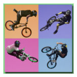 BMX Extreme Pop Art 2, Copyright Karen J Williams Poster