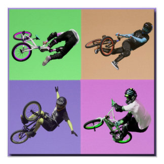 BMX Extreme Pop Art, Copyright Karen J Williams Poster