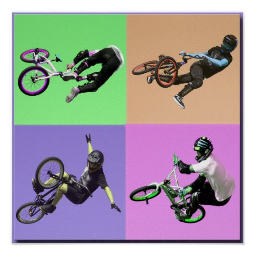 BMX Extreme Pop Art, Copyright Karen J Williams
