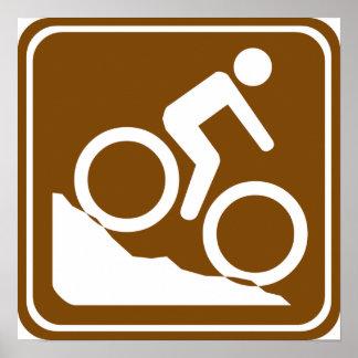 BMX Highway Sign Poster