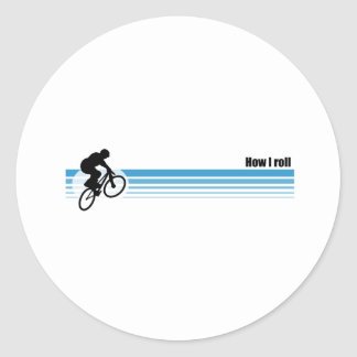 BMX - How I roll Classic Round Sticker