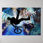 BMX in a Grunge Tunnel Print