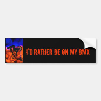 BMX in Light Crystals and Lightning Bumper Sticker