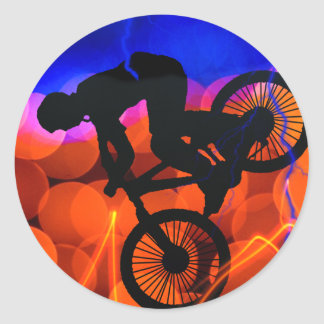 BMX in Light Crystals and Lightning Round Sticker