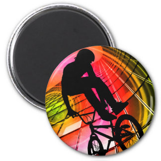 BMX in Lines & Circles 6 Cm Round Magnet