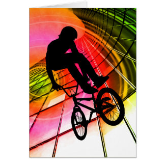 BMX in Lines & Circles Card