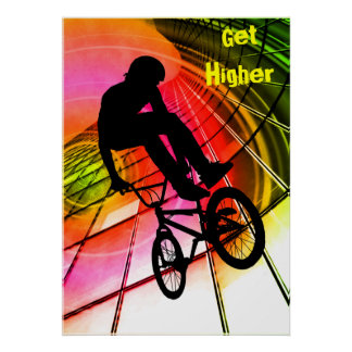 BMX in Lines Circles Posters