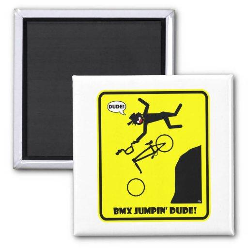 BMX JUMPIN'-21 FRIDGE MAGNET