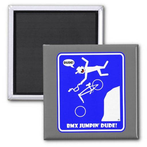 BMX JUMPIN'-22 FRIDGE MAGNET