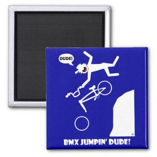 BMX JUMPIN'-25 SQUARE MAGNET