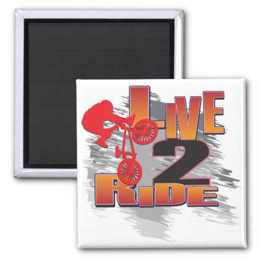 BMX Live to Ride Ride to Live Refrigerator Magnets