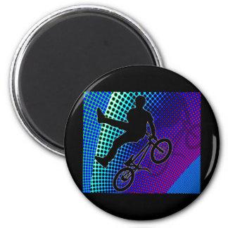 BMX on Fractal Movie Marquee 6 Cm Round Magnet