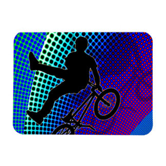 BMX on Fractal Movie Marquee Rectangular Photo Magnet