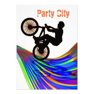 BMX on Rainbow Road Party Custom Announcement