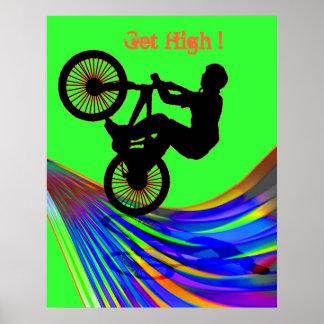 BMX on Rainbow Road Posters