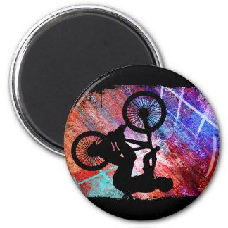 BMX on Rusty Grunge 6 Cm Round Magnet