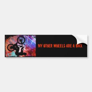BMX on Rusty Grunge Bumper Sticker