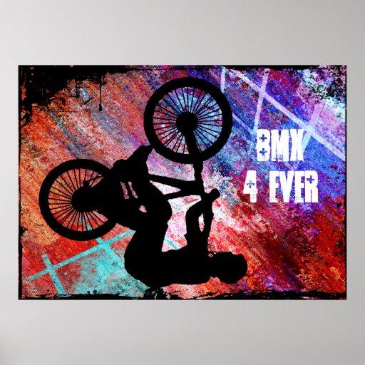 BMX on Rusty Grunge Poster