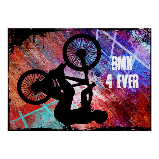 BMX on Rusty Grunge Posters