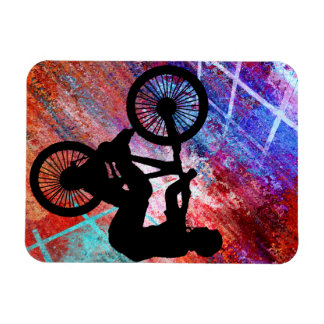 BMX on Rusty Grunge Rectangular Photo Magnet