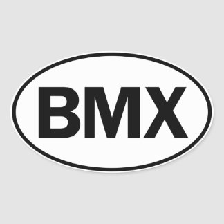 BMX Oval ID Oval Sticker