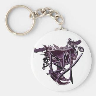 BMX (purple) keychain