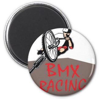 BMX RACING 6 CM ROUND MAGNET
