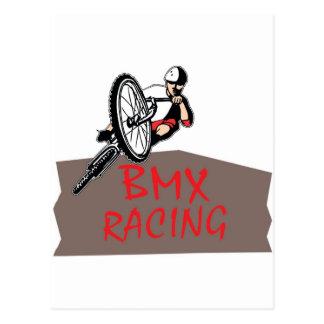 BMX RACING POSTCARD