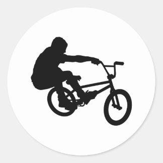 BMX Rider_3 Classic Round Sticker