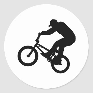 BMX Rider Classic Round Sticker