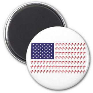 BMX Rider - Patriotic American Flag+ Magnet