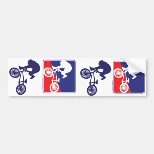 BMX Rider - Red White and Blue Bumper Sticker