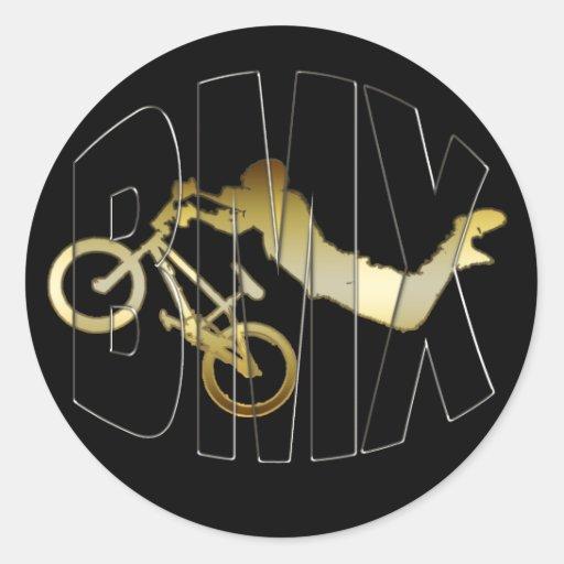 BMX ROUND STICKER