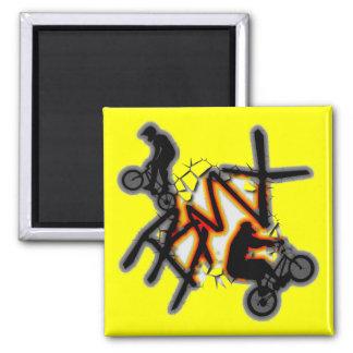 BMX SQUARE MAGNET