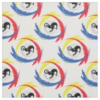 BMX Tricolor Emblem Fabric