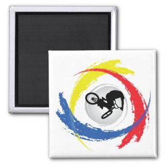 BMX Tricolor Emblem Magnet