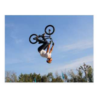 BMX Upside Down Flip Postcard