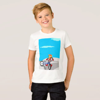 BMX young cycling jumping in the incline T-Shirt