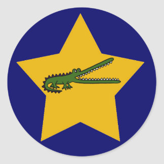 BN- Gold Star Crocodile Stickers