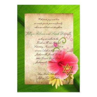 B'nai Mitzvah for Lisa (option 2) 13 Cm X 18 Cm Invitation Card