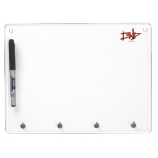 BND white board with hooks