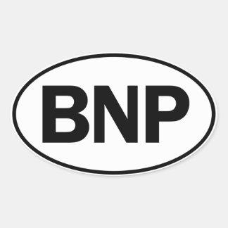 BNP Oval ID Oval Sticker